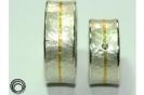 Trauringe Struktur im Ring mit Brillant in 925°°° silber und Feingold