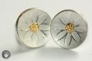BlumenOhrstecker in 925°°° Silber und Feingold